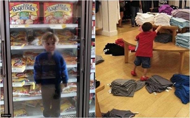 أشياء كارثية فعلها الأطفال عندما ذهبوا مع أمهاتهم للتسوق
