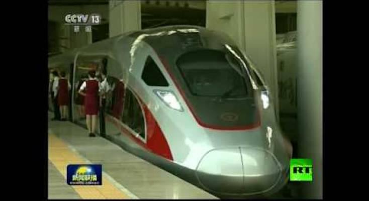 صورة فيديو | انطلاق أسرع قطار في العالم