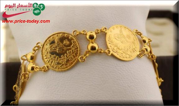 صورة سعر ليرة الذهب الرشادي و الانجليزي في فلسطين