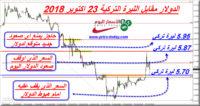 صرف الليرة التركية مقابل الدولار