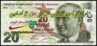 تراجع الليرة التركية امام الدولار اليوم