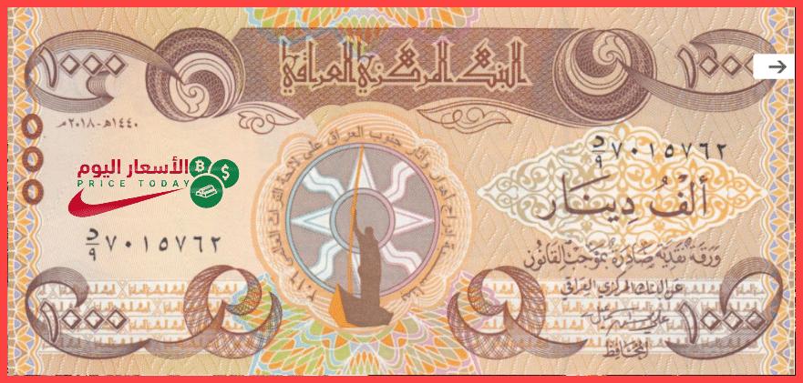 صورة اسعار الدولار في العراق اليوم 19/1/2021