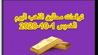 صورة توقعات محللين الذهب اليوم الخميس 1/10/2020