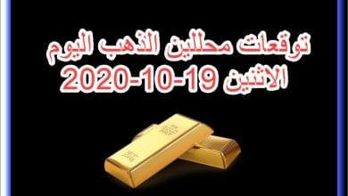صورة توقعات محللين الذهب اليوم الاثنين 19/10/2020