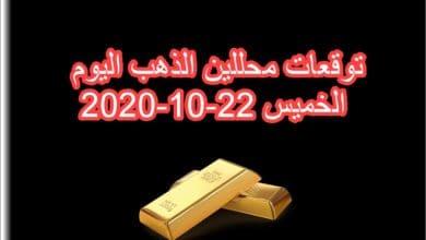 صورة توقعات محللين الذهب اليوم الخميس 22/10/2020